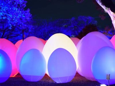 チームラボ福岡城跡光の祭2019-2020の卵のオブジェ3