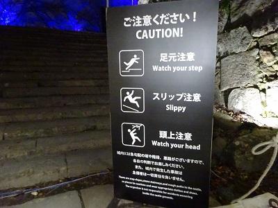 チームラボ福岡城跡光の祭2019-2020の注意点