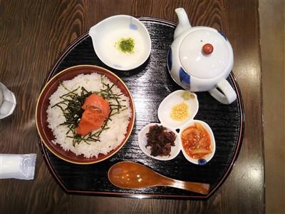 温・明太お茶漬け(ご飯 並)