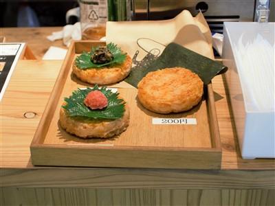 福太郎太宰府店のめんたい焼きおにぎりのサンプル