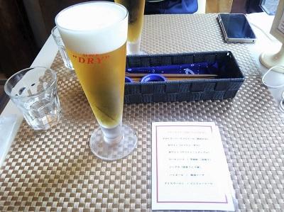 茶寮白梅のほろ酔いセットのビール