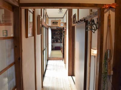 古民家カフェひとひらの廊下