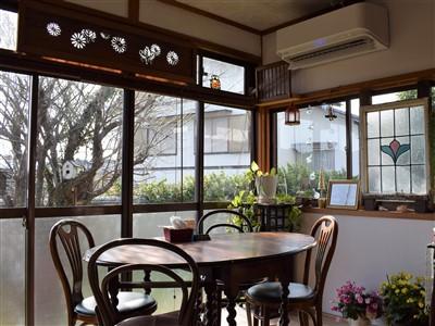 古民家カフェひとひらのテーブル席
