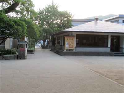 太宰府天満宮本殿の左奥の無料休憩所